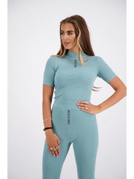 Reinders Livia Top Knitwear Short Sleeves - Mineral Blue