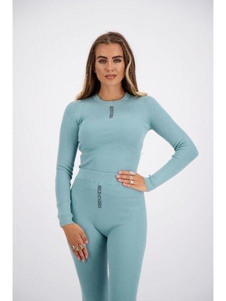 Reinders Livia Knitwear Long Sleeves Top - Mineral Blue