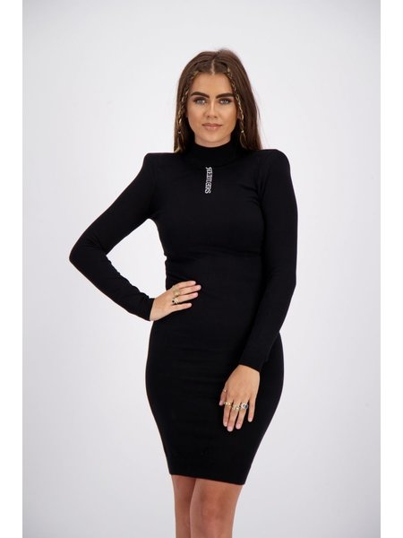 Reinders Livia Shoulder Pads Knitwear Jurk - True Black
