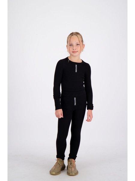 Reinders Kids Livia Knitwear Long Sleeves Top - Zwart