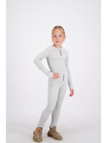 Reinders Kids Livia Knitwear Long Sleeves Top - Quiet Gray