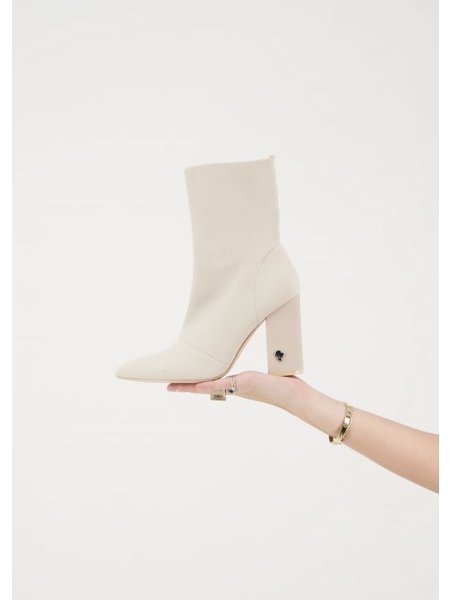 Reinders Ankle Socks Boots - Creme
