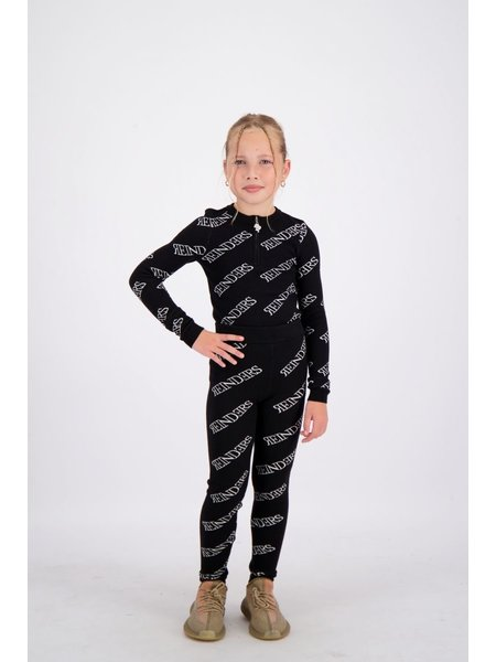 Reinders Kids Pants All Over Print - True Black