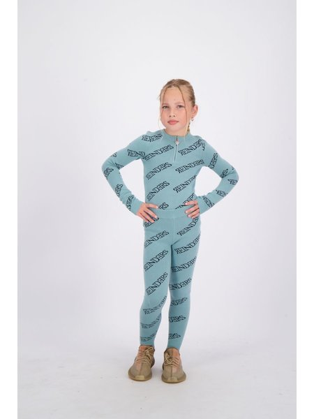 Reinders Kids Pants All Over Print - Mineral Blue