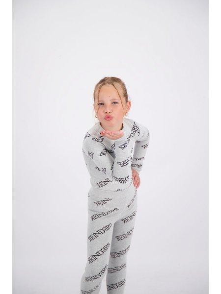 Reinders Kids Zipper All Over Print Top - Quiet Gray