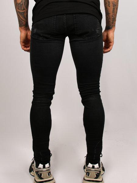 2LEGARE 2LEGARE Noah Stretch Jeans - Zwart