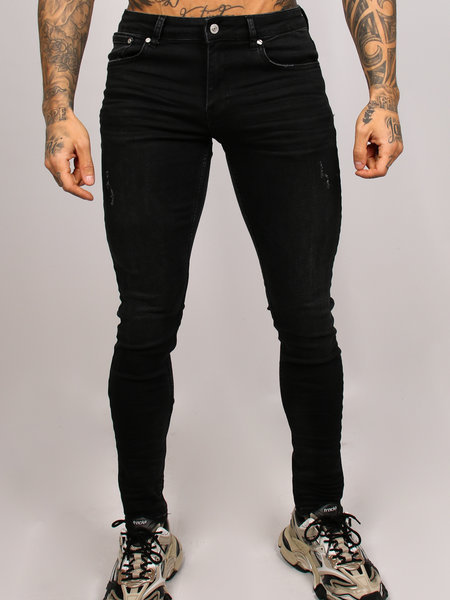 2LEGARE Noah Stretch Jeans - Zwart