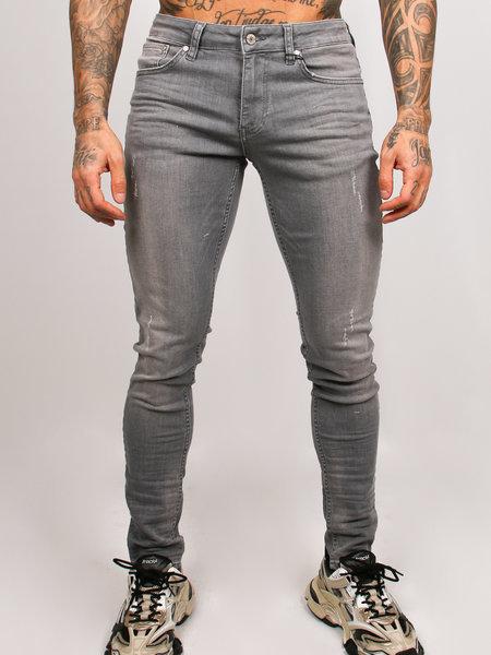 2LEGARE Noah Stretch Jeans - Lichtgrijs
