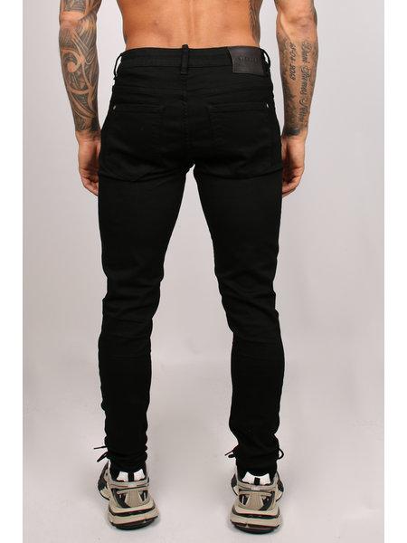 2LEGARE 2LEGARE Noah Stretch Jeans - Ultra Zwart