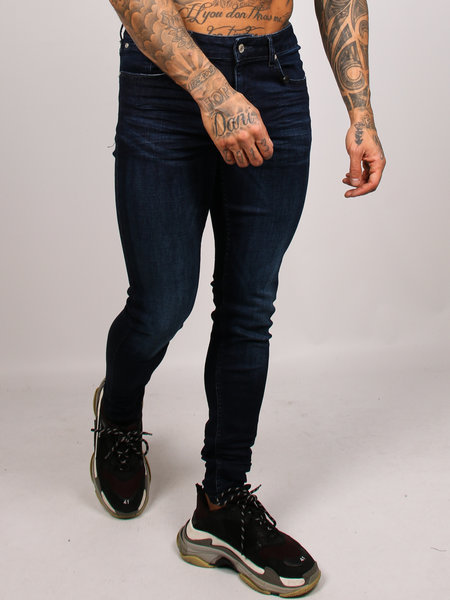2LEGARE 2LEGARE Noah Stretch Jeans - Donkerblauw