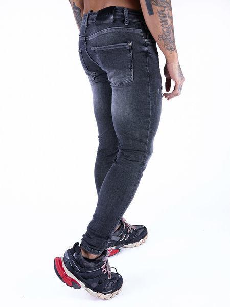 2LEGARE 2LEGARE Noah Destroyed Jeans - Mid Grey