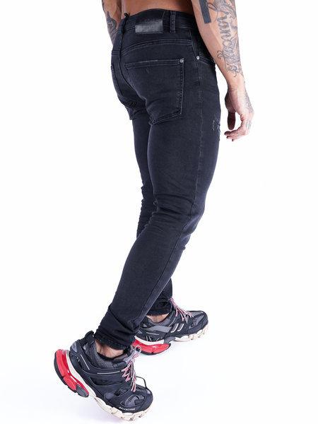 2LEGARE 2LEGARE Noah Destroyed Jeans - Zwart