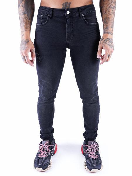 2LEGARE Noah Destroyed Jeans - Zwart