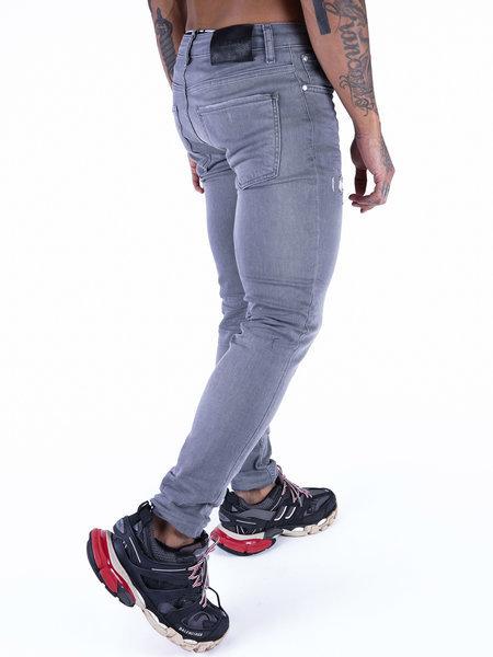 2LEGARE 2LEGARE Noah Destroyed Jeans - Lichtgrijs