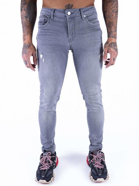 2LEGARE Noah Destroyed Jeans - Lichtgrijs