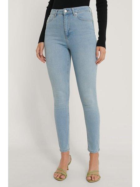 NA-KD Skinny High Waist Jeans - Lichtblauw