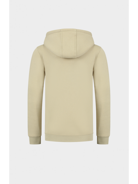 2LEGARE 2LEGARE Kids Embroidery Hoodie - Sand/Wit