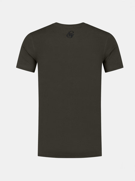 2LEGARE 2LEGARE Embroidery T-Shirt - Army/Zwart