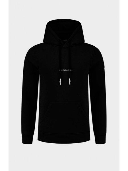 2LEGARE Small Logo Hoodie - Zwart/Wit