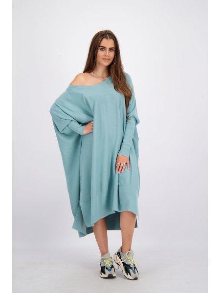 Reinders Loesje Knitwear Long - Mineral Blue
