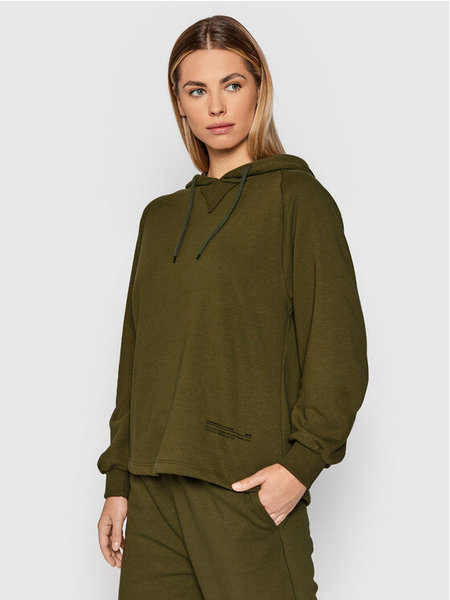 NA-KD Good Will Printed Sweatshirt - Donkergroen