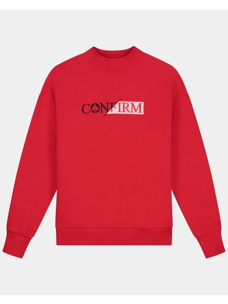 Confirm Sweater Blood Moon Trui - Rood