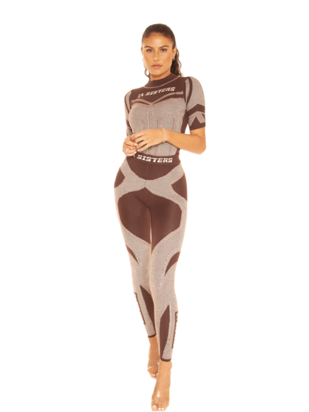 La Sisters Knitted Sporty Two Piece 2.0 - Dark Brown