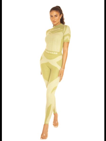 La Sisters Knitted Sporty Two Piece 2.0 - Pistache Green