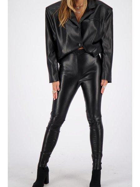 Reinders PU Legging Slim Fit - True Black