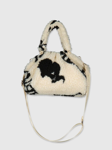 Reinders Pouch Bag Teddy All Over Print - Creme