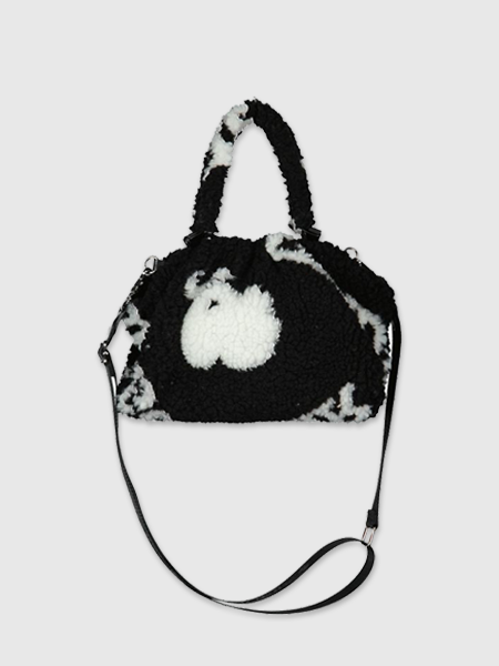 Reinders Pouch Bag Teddy All Over Print - True Black