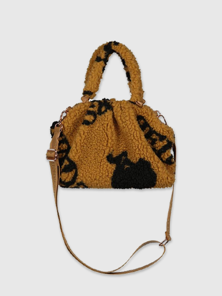 Reinders Pouch Bag Teddy All Over Print - Almond
