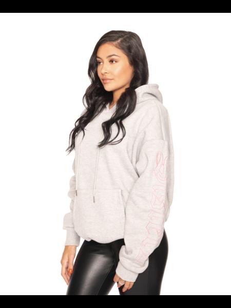 La Sisters Oversized Pocket Hoodie - Grey