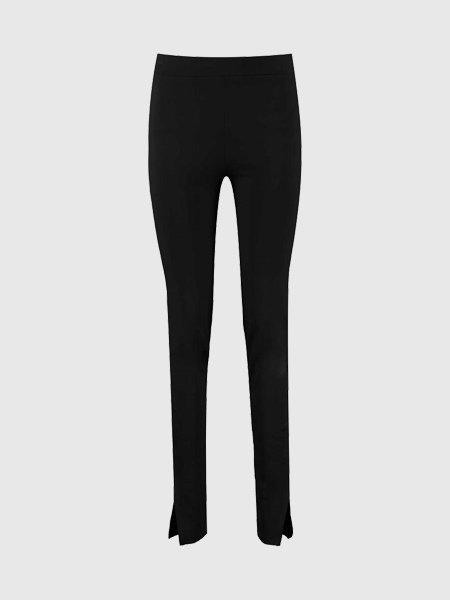 NA-KD Side Split Jersey Broek - Zwart