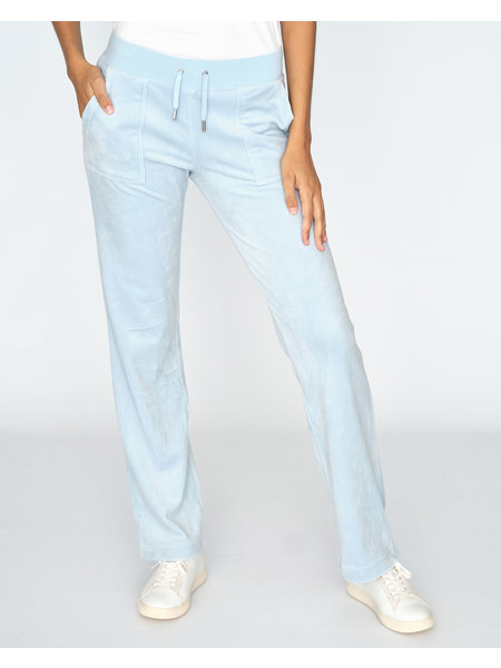 Juicy Couture Del Ray Classic Velour Pant Pocket - Cool Blue