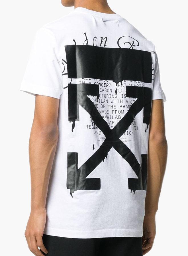 Off-White Black Arrow Back Print T-shirt