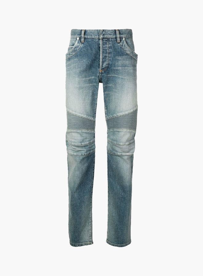 Balmain LogoBack Pocket Biker Jeans