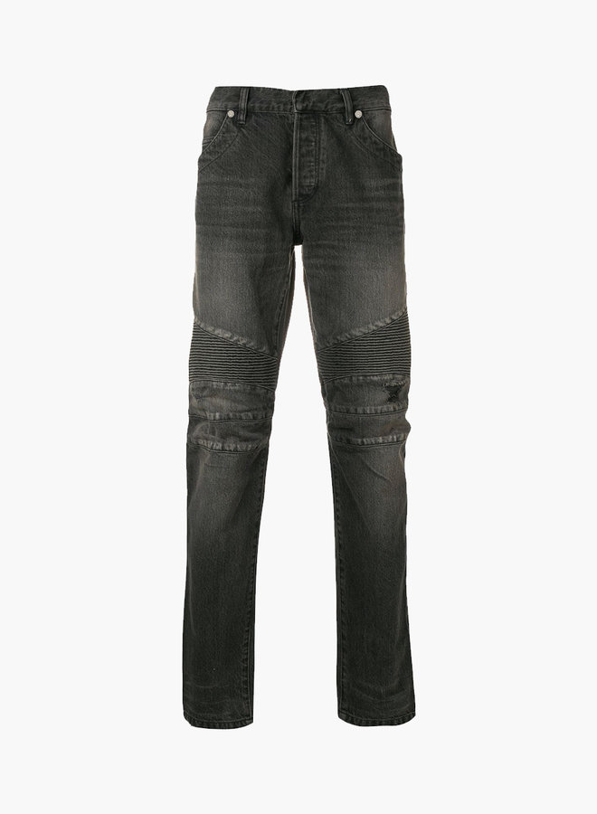 Balmain Minor Wash Biker Jeans