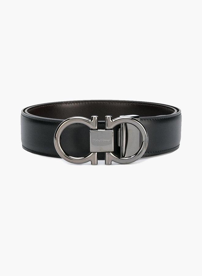 Salvatore Ferragamo Silver Thin Buckle Belt