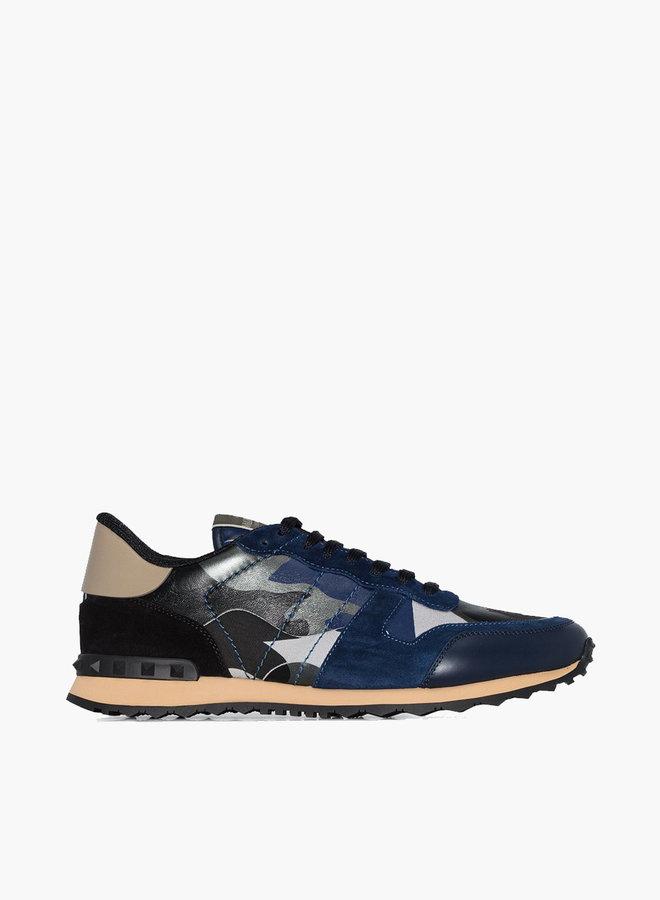 Valentino Camouflage Rockrunner Metallic Sneaker