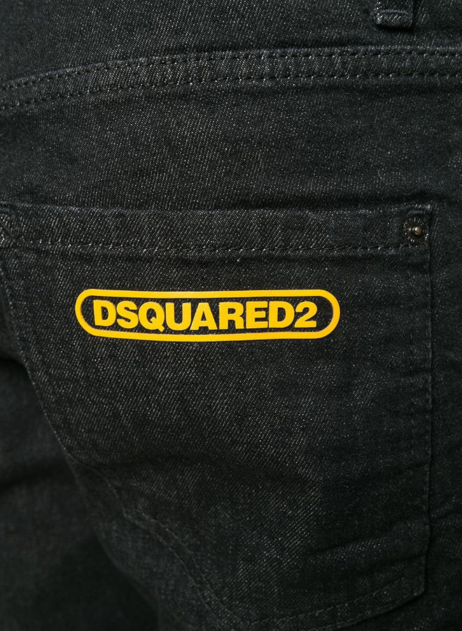 Dsquared2 Yellow Logo Cool Guy Jeans