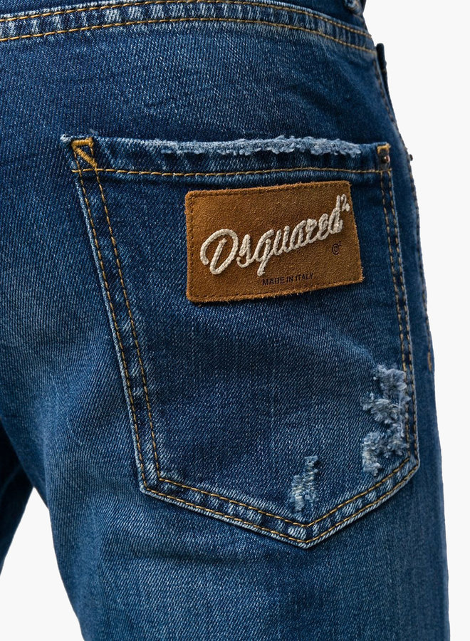 Dsquared2 Brown Logo Cool Guy Jeans