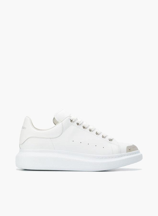 Alexander McQueen Silver Toe Cap Oversized Sneaker