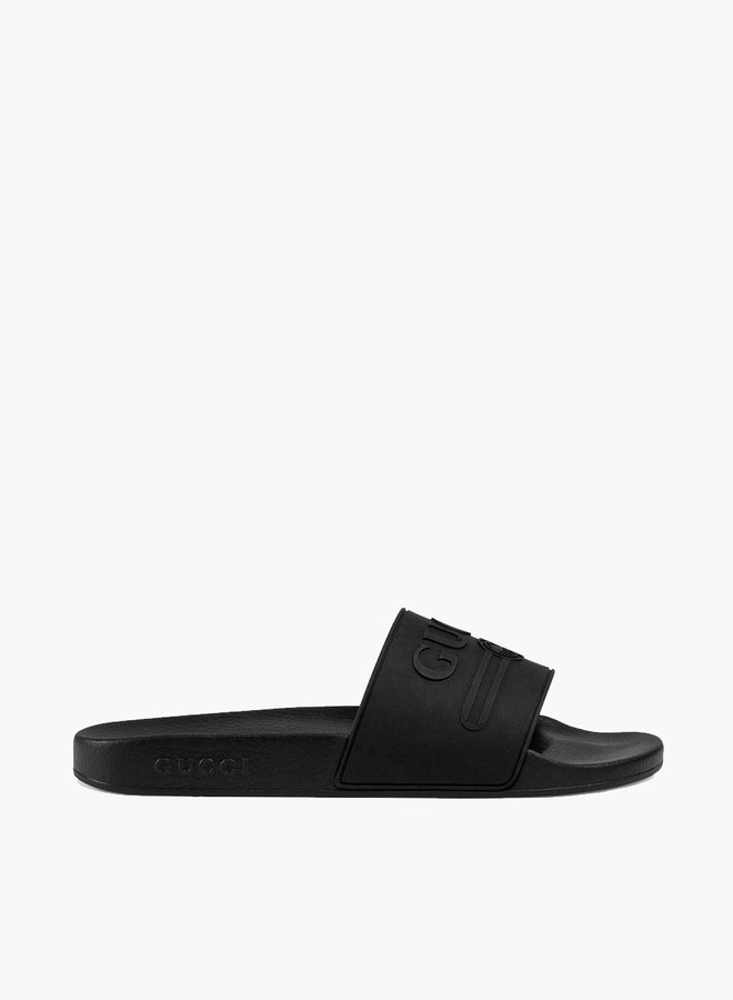 Gucci logo debossed slide