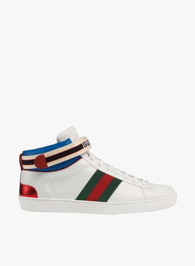 Gucci Ace stripe high-top sneaker