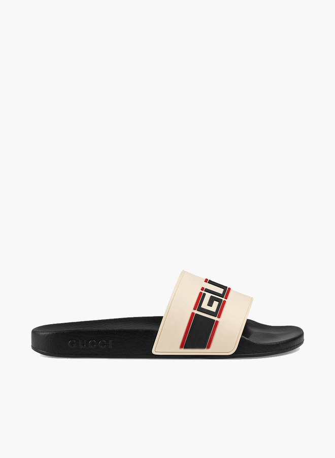 Gucci retro striped slide