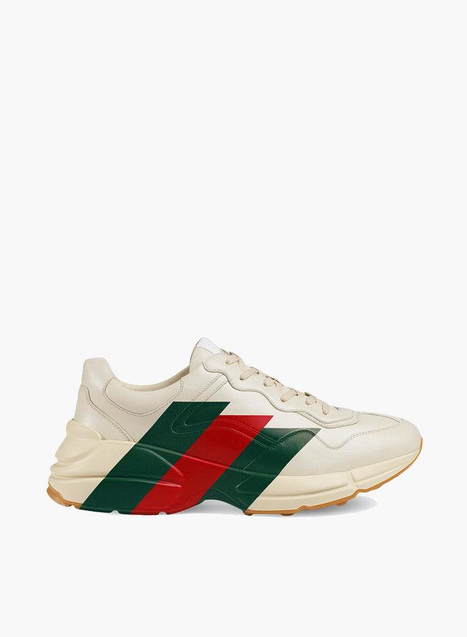 Gucci Rhyton web print sneaker