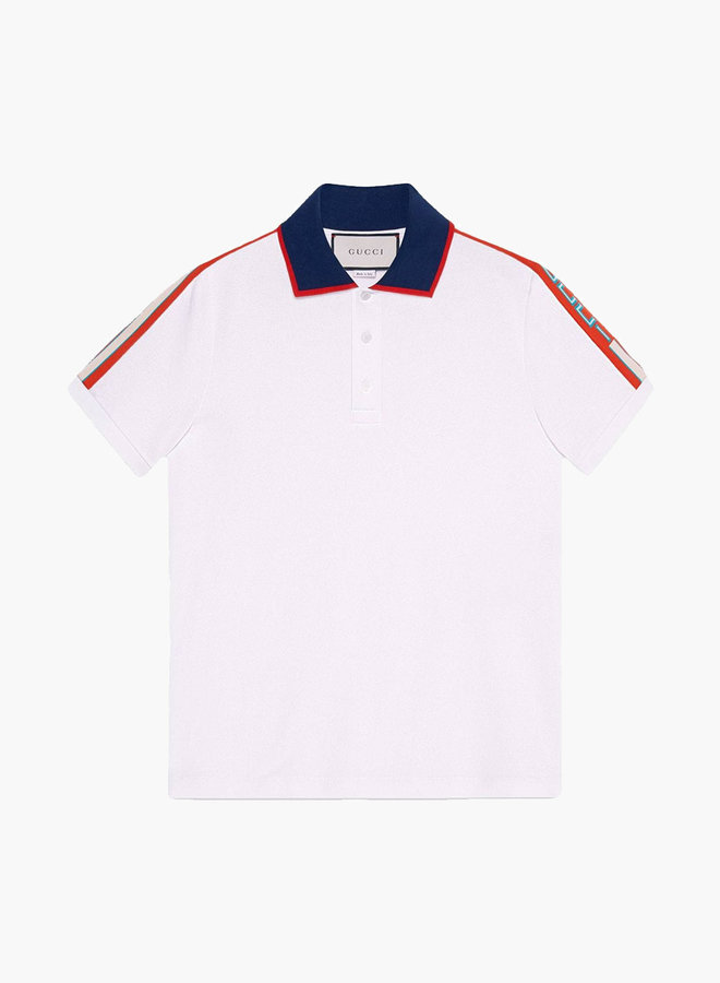 Gucci striped logo polo