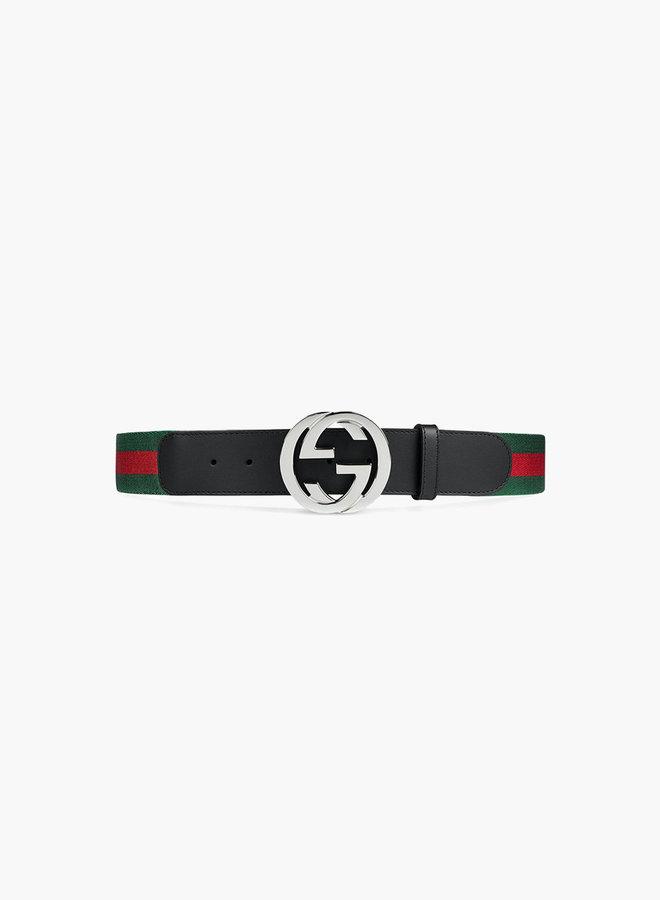 Gucci GG classic buckle web belt