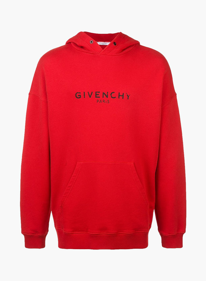 Givenchy destroyed letters hoodie
